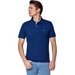 Koszulka Atramentowa Polo Jack. Niebieskie koszulki polo męskie LANCERTO, z bawełny, z krótkim rękawem. W wyprzedaży za 69.90 zł.