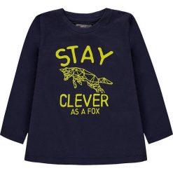 Koszulka w kolorze granatowym. T-shirty dla chłopców marki Reserved. W wyprzedaży za 19.95 zł.