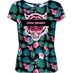 Colour Pleasure Koszulka damska CP-034 259 różowo-zielona r. XS/S. T-shirty damskie Colour Pleasure. Za 70.35 zł.