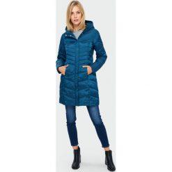 Włoski płaszcz ROZPINANE RĘKAWY czarny połysk