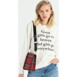 Bluza z hasłem - Kremowy. Białe bluzy damskie Sinsay. Za 29.99 zł.