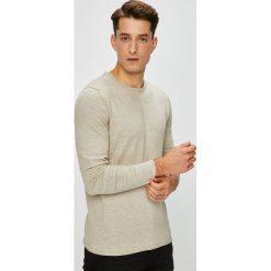 Premium by Jack&Jones - Sweter. Szare swetry przez głowę męskie Premium by Jack&Jones, z bawełny, z okrągłym kołnierzem. W wyprzedaży za 139.90 zł.