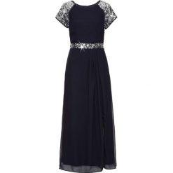 Sukienka wieczorowa bonprix ciemnoniebieski. Niebieskie sukienki damskie bonprix, z szyfonu, wizytowe, z długim rękawem. Za 189.99 zł.