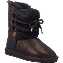 Buty EMU AUSTRALIA - Sorby W11789 Black Metallic. Czarne kozaki damskie Emu Australia, ze skóry. Za 769.00 zł.