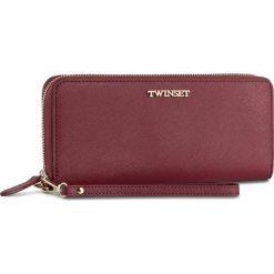 Duży Portfel Damski TWINSET - Zip Around OA7TKC Bordeau 00020. Czerwone portfele damskie Twinset, ze skóry. W wyprzedaży za 419.00 zł.