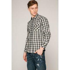 Diesel - Koszula. Szare koszule męskie Diesel, w kratkę, z bawełny, z klasycznym kołnierzykiem, z długim rękawem. W wyprzedaży za 239.90 zł.