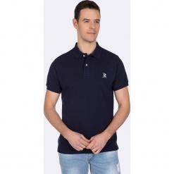 Koszulka polo w kolorze granatowym. Niebieskie koszulki polo męskie Giorgio di Mare, z haftami, z bawełny. W wyprzedaży za 108.95 zł.