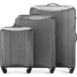 Zestaw walizek 56-3P-91S-00. Brązowe walizki damskie Wittchen, z gumy. Za 778.41 zł.