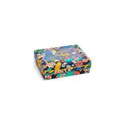 Zestaw bielizna męska Happy Socks x Wiz Khalifa - Boxer (XWIZ80-6000). Szara bokserki męskie Happy Socks, w kolorowe wzory, z bawełny. Za 199.90 zł.