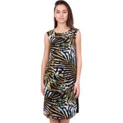 Długa sukienka z szyfonu we wzory BIALCON. Szare sukienki damskie BIALCON, z materiału, wizytowe, z długim rękawem. W wyprzedaży za 170.00 zł.