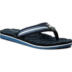 Japonki TOMMY HILFIGER - Comfort Low Beach Sandal FW0FW02368 Midnight 403. Niebieskie klapki damskie Tommy Hilfiger, z materiału. W wyprzedaży za 119.00 zł.