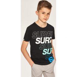 T-shirt dla surfera - Czarny. T-shirty dla chłopców marki Reserved. W wyprzedaży za 14.99 zł.