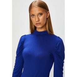 Morgan - Bluzka. Niebieskie bluzki damskie Morgan, z dzianiny, casualowe, z golfem. W wyprzedaży za 99.90 zł.
