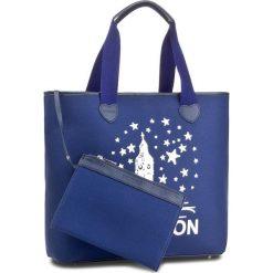 Torebka TWINSET - Shopping AS8PNA St. London Blu Scuro 02303. Niebieskie torebki do ręki damskie Twinset, z materiału. W wyprzedaży za 259.00 zł.
