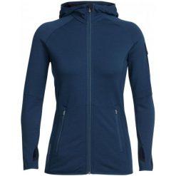 Icebreaker Bluza Wmns Atom Ls Zip Hood Largo/Midnight Navy L. Niebieskie bluzy damskie Icebreaker, z wełny. W wyprzedaży za 449.00 zł.