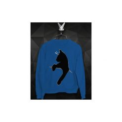 Bluza Kot Czarny - Damska. Niebieskie bluzy męskie Failfake, z bawełny. Za 160.00 zł.