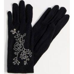Rękawiczki z wełną - Czarny. Czarne rękawiczki damskie Mohito, z wełny. Za 49.99 zł.