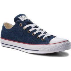 Trampki CONVERSE - Ctas Ox 161489C Dark Blue/Natural Ivory/White. Niebieskie trampki męskie Converse, z gumy. W wyprzedaży za 219.00 zł.