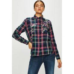 Pepe Jeans - Koszula Sonia. Szare koszule damskie Pepe Jeans, z haftami, z bawełny, casualowe, z klasycznym kołnierzykiem, z długim rękawem. Za 319.90 zł.
