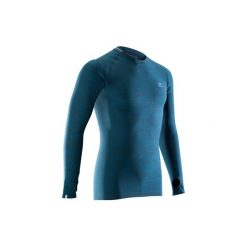 Bluzka długi rękaw do biegania Kiprun SKINCARE męska. Niebieskie bluzki z długim rękawem męskie KALENJI. Za 69.99 zł.