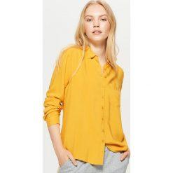 Gładka koszula - Żółty. Żółte koszule damskie Cropp. Za 49.99 zł.