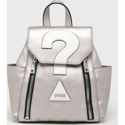 Guess Jeans - Plecak. Szare plecaki damskie Guess Jeans, z bawełny. Za 559.90 zł.