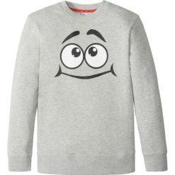 Bluza z modnym nadrukiem bonprix szary melanż. Bluzy dla chłopców bonprix, melanż. Za 27.99 zł.