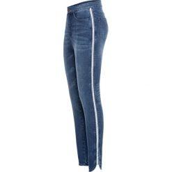 """Dżinsy Super Skinny w krótszej długości, z połyskującą wstawką bonprix niebieski """"stone"""". Jeansy damskie marki bonprix. Za 109.99 zł."""
