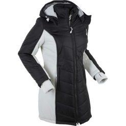 Płaszcz funkcyjny pikowany bonprix czarno-srebrny. Płaszcze damskie marki FOUGANZA. Za 239.99 zł.