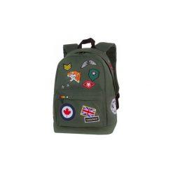 Plecak Coolpack Cross Z Naszywkami Khaki Zielony. Brązowe torby i plecaki dziecięce CoolPack, z materiału. Za 84.50 zł.
