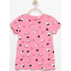 Wzorzysty t-shirt - Różowy. T-shirty damskie marki bonprix. Za 14.99 zł.