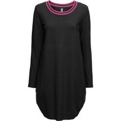 Sukienka bonprix czarno-różowy. Czarne sukienki damskie bonprix, z kontrastowym kołnierzykiem. Za 79.99 zł.
