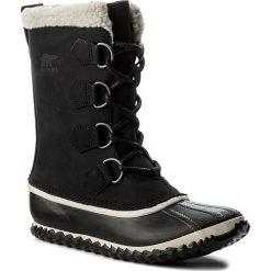 Śniegowce SOREL - Caribou Slim NL2649 Black 010. Czarne kozaki damskie Sorel, z gumy. W wyprzedaży za 339.00 zł.