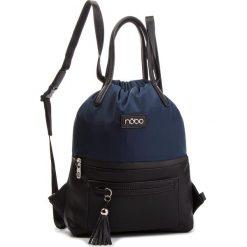 Plecak NOBO - NBAG-F4330-C013 Granatowy Z Czarnym. Niebieskie plecaki damskie Nobo, z materiału, eleganckie. W wyprzedaży za 159.00 zł.