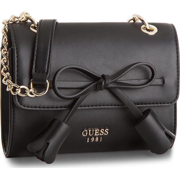 Torebki do ręki damskie: Torebka GUESS - Leila (VG) Mini-Bag HWVG69 64780 BLA