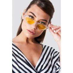 NA-KD Accessories Transparentne okulary przeciwsłoneczne kocie oczy - Yellow. Żółte okulary przeciwsłoneczne damskie NA-KD Accessories. Za 40.95 zł.