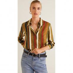 Mango - Koszula Jaquelin. Szare koszule damskie Mango, w paski, z materiału, klasyczne, z klasycznym kołnierzykiem, z długim rękawem. Za 139.90 zł.