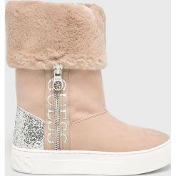Guess Jeans - Śniegowce. Szare śniegowce i trapery damskie Guess Jeans, z gumy. Za 649.90 zł.