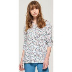 Wzorzysta koszula - Niebieski. Niebieskie koszule damskie Sinsay. Za 39.99 zł.
