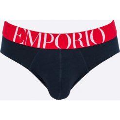 Emporio Armani - Slipy. Szare slipki męskie Emporio Armani, z bawełny. W wyprzedaży za 99.90 zł.
