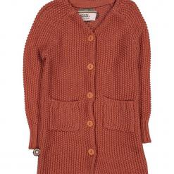 """Kardigan """"Can't Touch Me Anymore"""" w kolorze jasnobrązowym. Swetry dla dziewczynek marki bonprix. W wyprzedaży za 142.95 zł."""