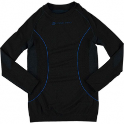"""Koszulka funkcyjna """"Krioso"""" w kolorze czarno-niebieskim. Czarne t-shirty dla chłopców marki Alpine Pro, z materiału, z długim rękawem. W wyprzedaży za 86.95 zł."""