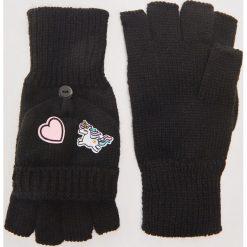 Rękawiczki typu mitenki - Czarny. Rękawiczki damskie marki B'TWIN. W wyprzedaży za 19.99 zł.