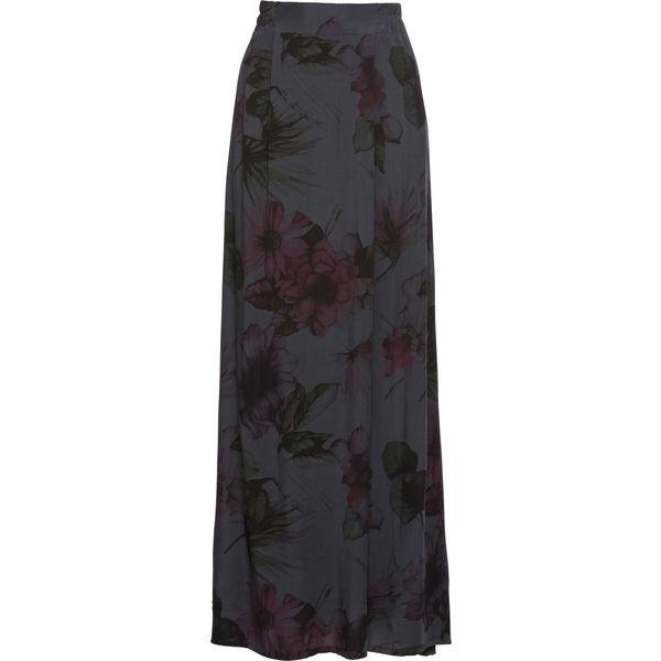 c62d32c5 Długa spódnica z nadrukiem bonprix ciemnoszary z nadrukiem