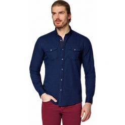 Koszula Jeansowa Granatowa Baywiew. Niebieskie koszule męskie LANCERTO, z bawełny. W wyprzedaży za 199.90 zł.