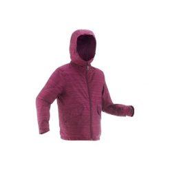 Kurtka SH100 WARM dla dzieci. Fioletowe kurtki i płaszcze dla dziewczynek QUECHUA. Za 99.99 zł.