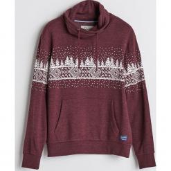 Bluza z motywem zimowym - Bordowy. Czerwone bluzy męskie Reserved. Za 99.99 zł.