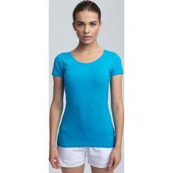 T-shirt damski TSD300A - błękit turkusowy. T-shirty damskie marki Colour Pleasure. W wyprzedaży za 19.99 zł.