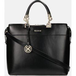 Czarna torebka do ręki. Czarne torby na ramię damskie Kazar. Za 849.00 zł.