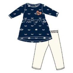 Carodel Zestaw Tunika + Legginsy 80 Biały/Niebieski. Bluzki dla dziewczynek marki OROKS. Za 49.00 zł.